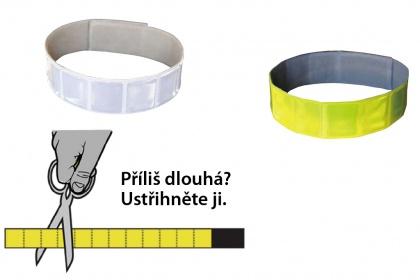 Reflexní  páska na suchý zip 3M - splňuje  EN13356
