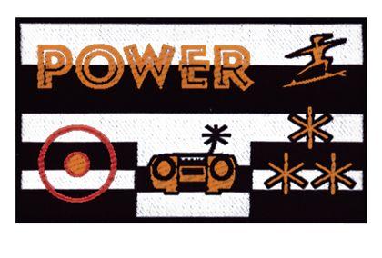 Nažehlovací etikety velké - power