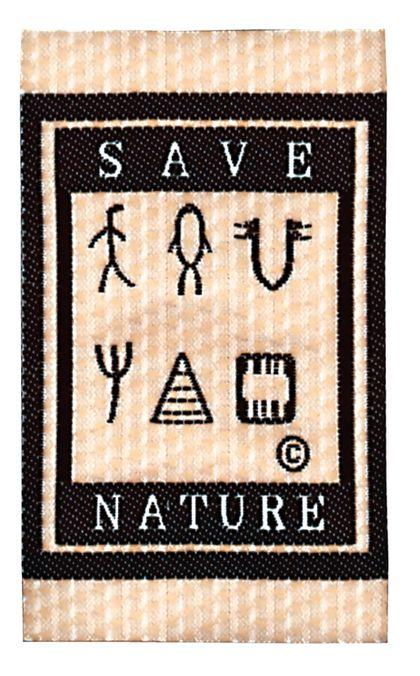 Nažehlovací etikety velké - save nature