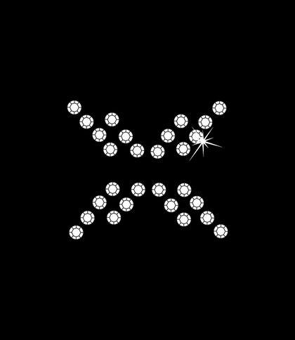 Nažehlovací motivy z kamínků