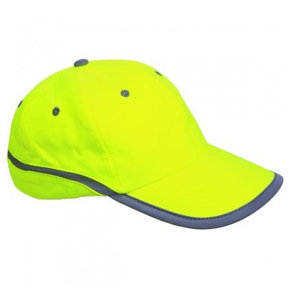 Baseballová čepice s reflexním pruhem ŽLUTÁ