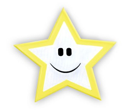 Reflexní samolepka - hvězdička, balení 5ks