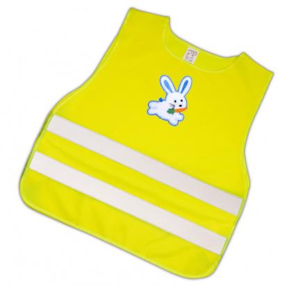 Dětská reflexní vesta s obrázkem-modrý zajíc - splňuje EN 1150