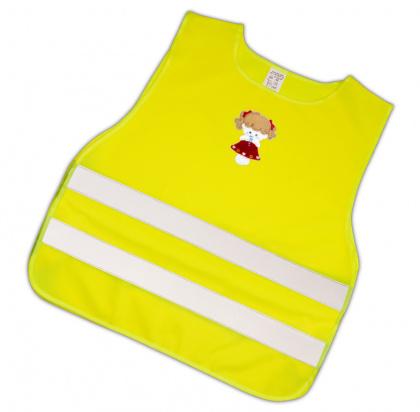 Dětská reflexní vesta s obrázkem panenky - splňuje EN 1150