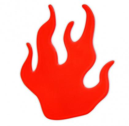 Reflexní samolepka plamínek - oranžový, balení 5ks
