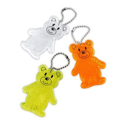 Reflexní přívěšek - odrazka - medvídek žlutý