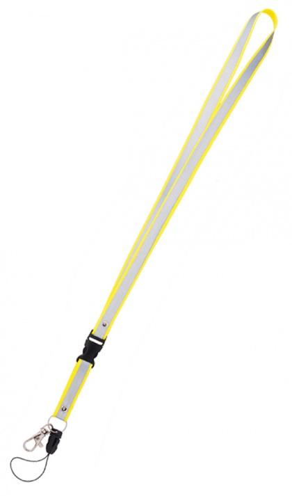 Reflexní klíčenka žlutá