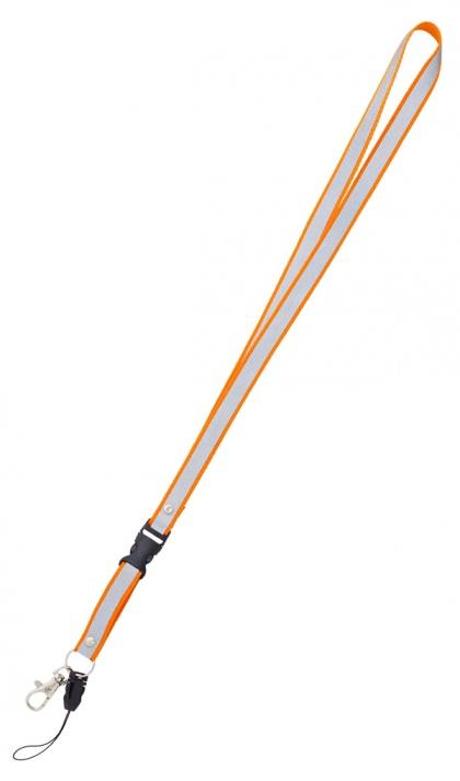 Reflexní klíčenka oranžová