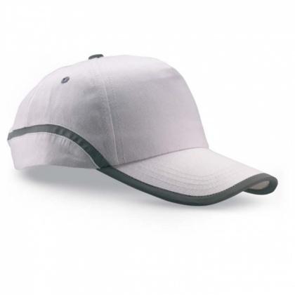 Baseballová čepice s reflexním pruhem BÍLÁ