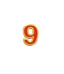 Nažehlovací vyšívaná čísla  - devítka červená, výška 3cm