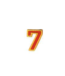 Nažehlovací vyšívaná čísla  - sedmička červená, výška 3cm