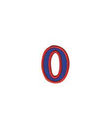 Nažehlovací vyšívaná čísla  - nula modrá, výška 3cm