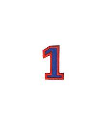 Nažehlovací vyšívaná čísla  - jednička modrá, výška 3cm