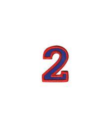Nažehlovací vyšívaná čísla  - dvojka modrá,  výška 3cm