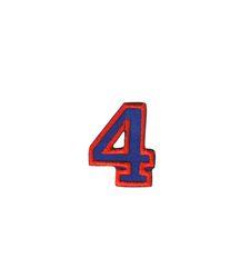 Nažehlovací vyšívaná čísla  - čtyřka modrá, výška 3cm