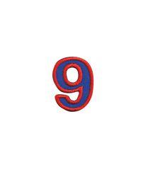 Nažehlovací vyšívaná čísla  - devítka modrá, výška 3cm