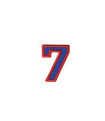 Nažehlovací vyšívaná čísla  - sedmička modrá, výška 3cm