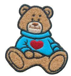Nažehlovací aplikace velké - medvídek hnědý