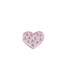 Vyšívané nažehlovací obrázky malé - srdíčko růžové