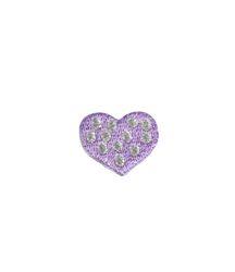 Vyšívané nažehlovací obrázky malé - srdíčko fialové