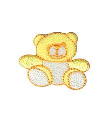 Vyšívané nažehlovací obrázky střední - medvídek žlutý