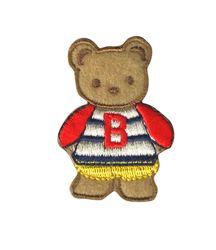 Vyšívané nažehlovací obrázky střední - medvidek hnědo-červený