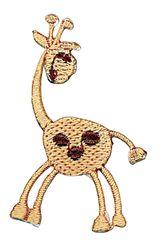 Vyšívané nažehlovací obrázky střední - žirafa hnědá