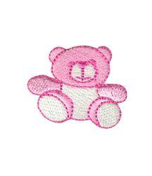 Vyšívané nažehlovací obrázky střední - medvídek růžový