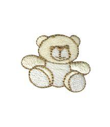 Vyšívané nažehlovací obrázky střední - medvídek hnědý