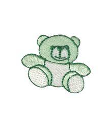 Vyšívané nažehlovací obrázky střední - medvídek zelený