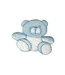 Vyšívané nažehlovací obrázky střední - medvídek modrý