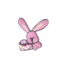 Vyšívané nažehlovací obrázky střední - zajíc růžový