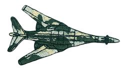 Vyšívané nažehlovací obrázky velké - vojenské letadlo