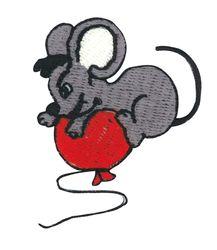 Vyšívané nažehlovací obrázky velké - myš