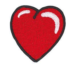 Vyšívané nažehlovací obrázky velké - srdce