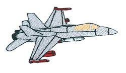 Vyšívané nažehlovací obrázky velké - stíhací letadlo