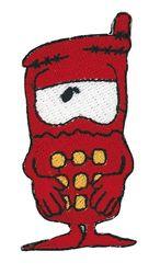 Vyšívané nažehlovací obrázky velké - telefon červený