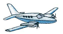Vyšívané nažehlovací obrázky velké - sportovní letadlo