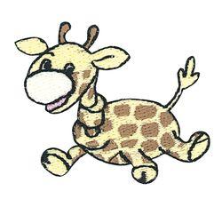Vyšívané nažehlovací obrázky velké - žirafa
