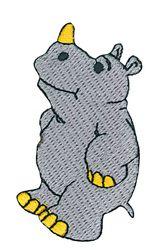 Vyšívané nažehlovací obrázky velké - nosorožec