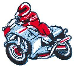 Vyšívané nažehlovací obrázky velké - motorkář