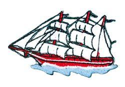 Vyšívané nažehlovací obrázky velké - plachetnice