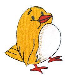 Vyšívané nažehlovací obrázky velké - ptáček