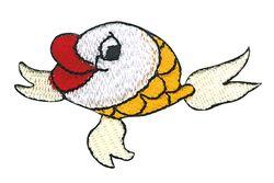 Vyšívané nažehlovací obrázky velké - ryba