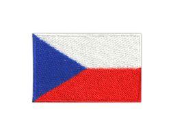 Vyšívané nažehlovací vlajky - Česká republika