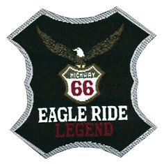Nažehlovací etikety velké - eagle ride