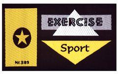 Nažehlovací etikety velké - exercise sport