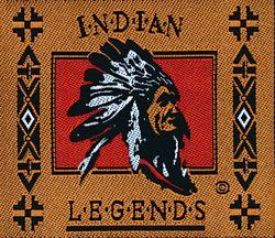 Nažehlovací etikety velké - indian legends