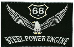 Nažehlovací etikety velké - steel power engine