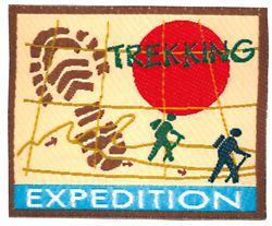 Nažehlovací etikety velké - trekking expediton